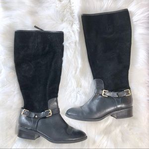 Lauren Ralph Lauren Black Suede Knee High Boots
